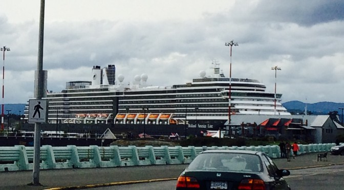 Alaskan Cruise Ships at Ogden Point Victoria BC