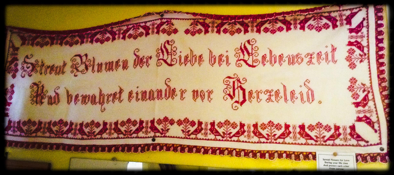 Hand Embroidered Saxon Art